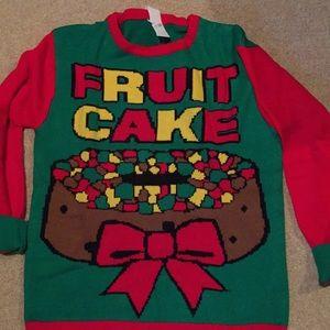 "Ugly Christmas sweater""Fruit Cake"" men's large"